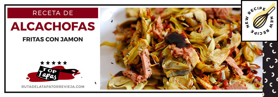 alcachofas fritas con jamon