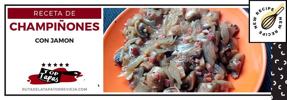 receta champiñones con jamon