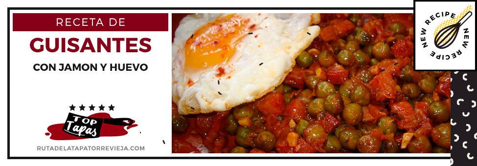 receta guisantes con jamon y huevo